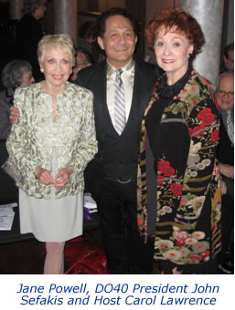 Jane Powell, John Sefakis and Carol Lawrence